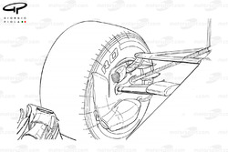 Mercedes W08 front brake duct