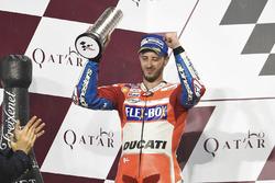 Podium : le deuxième, Andrea Dovizioso, Ducati Team