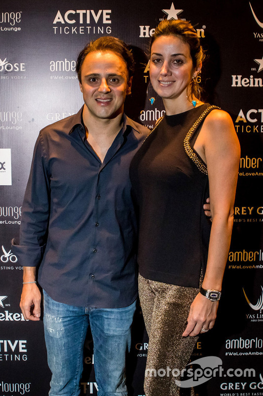 Felipe Massa, Williams F1 Team with his wife Anna Raffaela Bassi