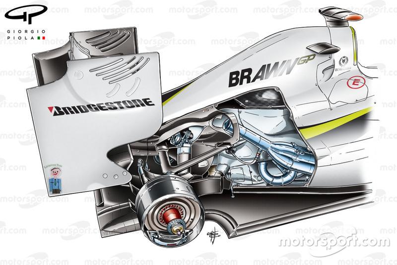 Brawn BGP 001 2009: Motor, Schnittzeichung