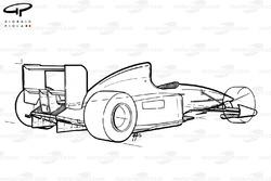 Benetton B191 1991 schematic view
