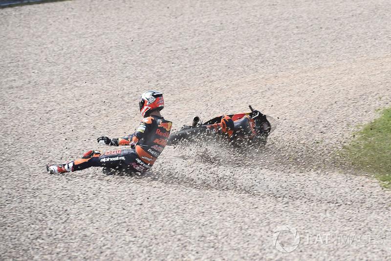 Sturz: Danny Kent, Red Bull KTM Ajo