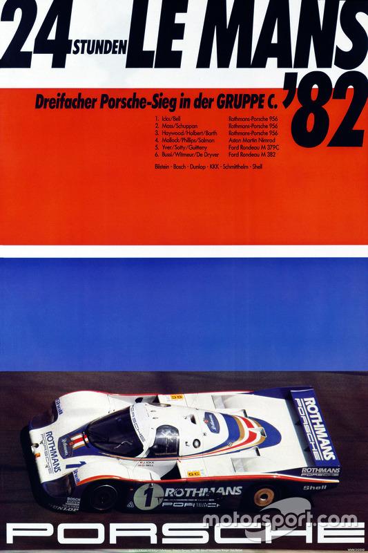 Poster Porsche 24h de Le Mans 1982