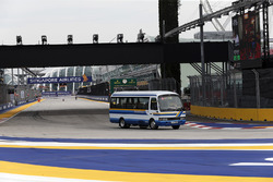Bus on track