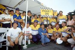 Nelson Piquet,Benetton festeggia la sua 200esima partenza di un Gran Premio