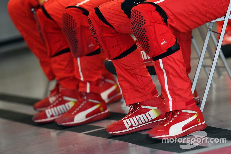 Ferrari mechanics Puma shoes