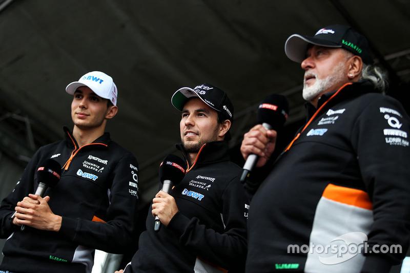 Серхіо Перес, Esteban Ocon, власник Sahara Force India Formula One Team Віджей Маллья