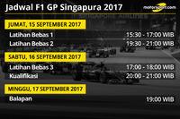 Jadwal F1 GP Singapura 2017