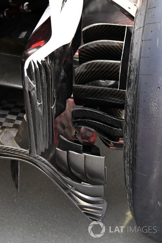 Ferrari SF70H, Hinterradbremse, Detail