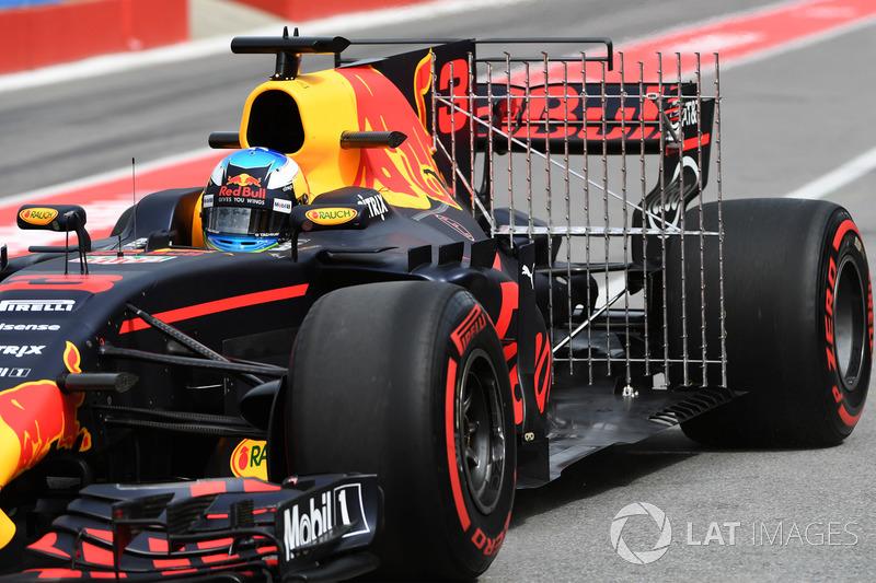 Daniel Ricciardo, Red Bull Racing RB13, aero sensor