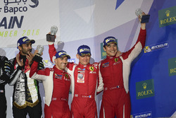 LMGTE Am Podium: third place #83 AF Corse Ferrari 458 Italia: Francois Perrodo, Emmanuel Collard, Rui Aguas