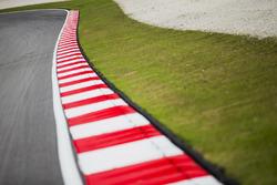 Sepang International Circuit, Sepang, Malaysia.  Seeping track and kerb detail