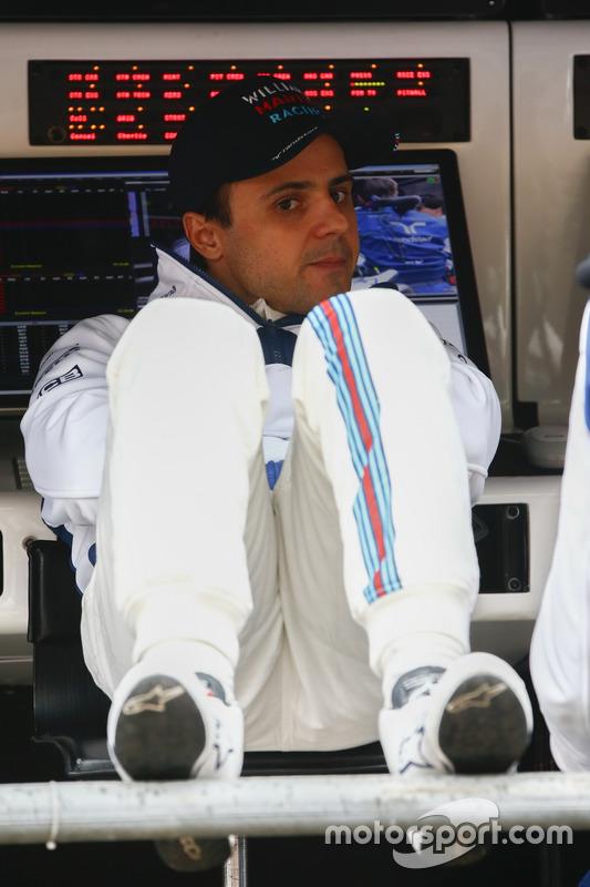 Felipe Massa, Williams, am Kommandostand