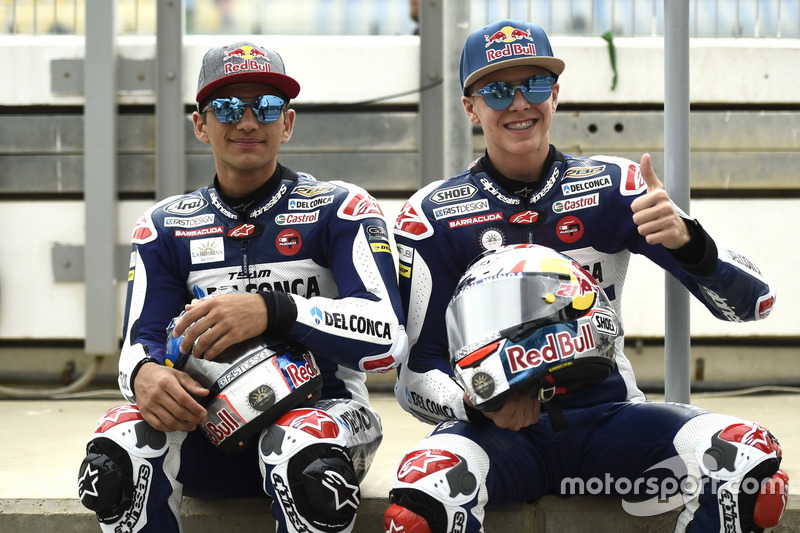 Jorge Martin, Del Conca Gresini Racing Moto3; Fabio Di Giannantonio, Del Conca Gresini Racing Moto3