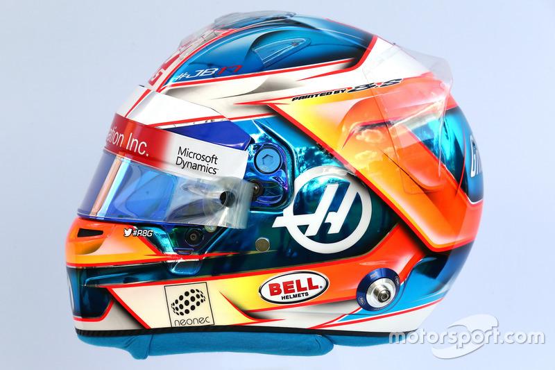 Casco de Romain Grosjean, Haas F1 Team