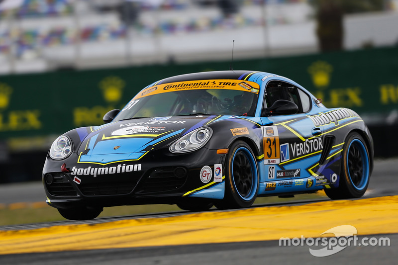#31 Bodymotion Racing Porsche Cayman: Drake Kemper, Devin Jones