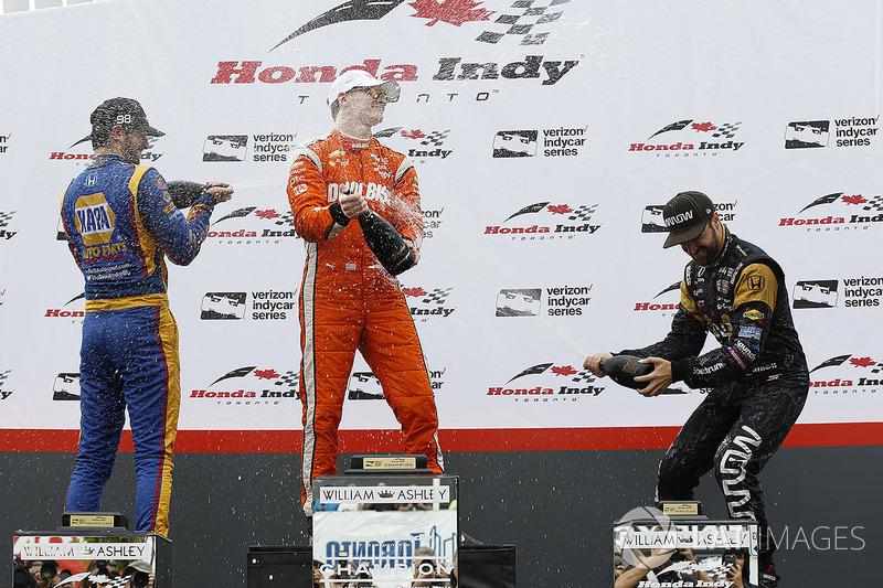 Podium: 1.Josef Newgarden, Team Penske; 2. Alexander Rossi, Herta - Andretti Autosport; 3. James Hin