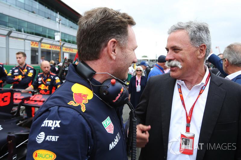 Керівник Red Bull Racing Крістіан Хорнер, керівник Ф1 Чейз Кері