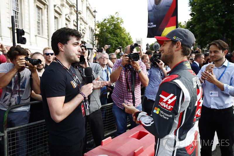 Romain Grosjean, Haas F1 Team, is interviewed