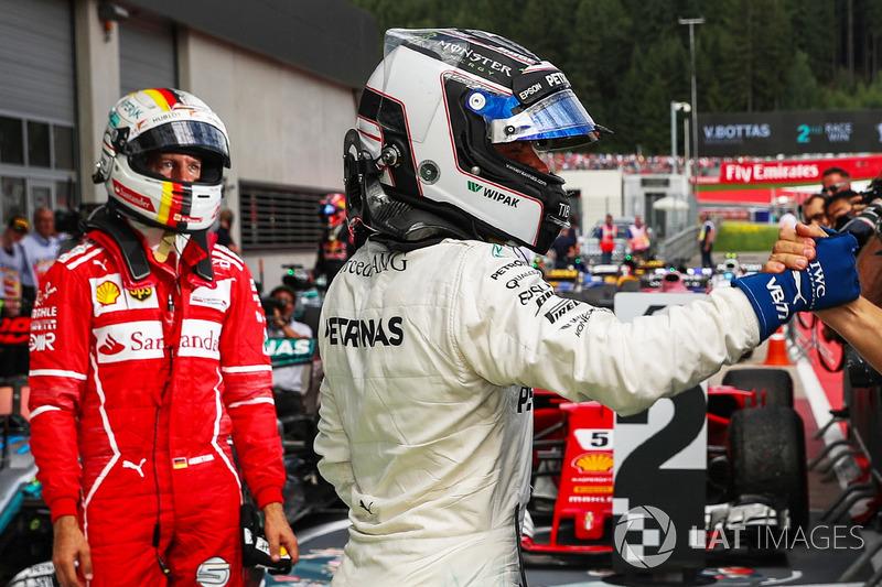 Себастьян Феттель, Ferrari, Валттері Боттас, Mercedes AMG F1