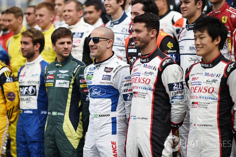 Tony Kanaan, Ford Chip Ganassi Racing, Jose Maria Lopez, Yuji Kunimoto, Toyota Gazoo Racing