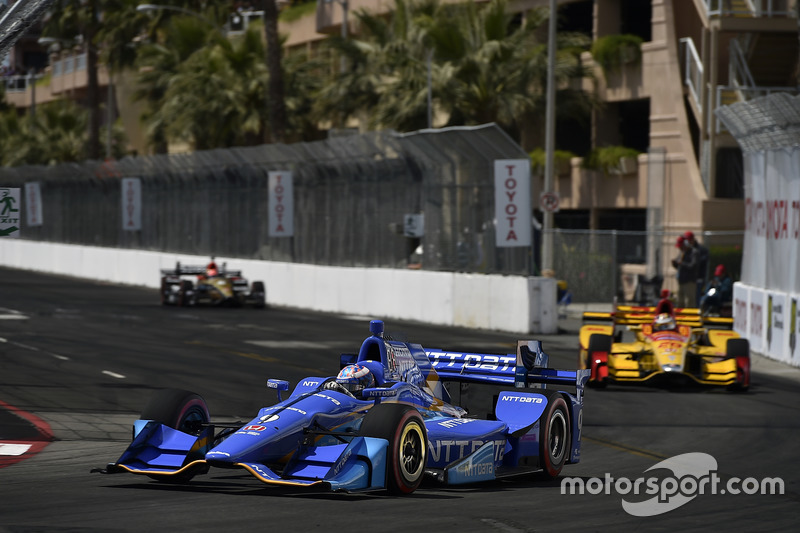 Scott Dixon, Chip Ganassi Racing, Honda; Ryan Hunter-Reay, Andretti Autosport, Honda