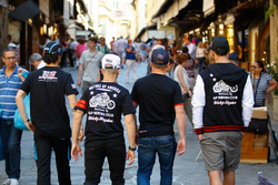 Our riders taking a stroll in the busy streets of Florence