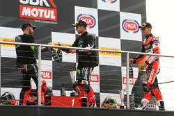 Podium: second place Tom Sykes, Kawasaki Racing