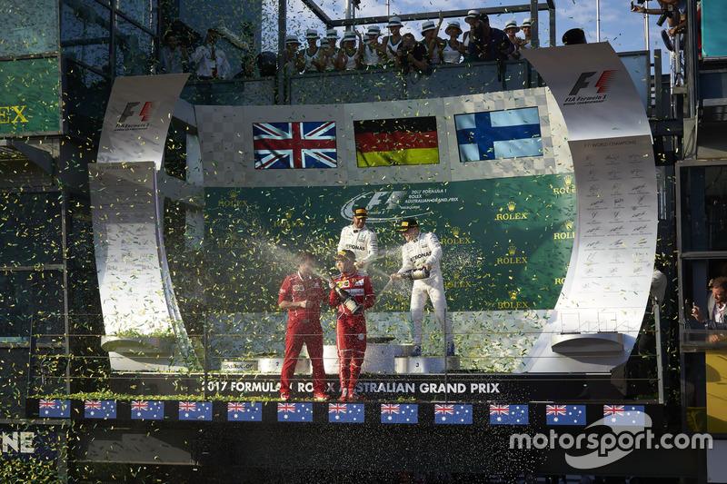 Sebastian Vettel, Ferrari, Lewis Hamilton, Mercedes AMG, Valtteri Bottas, Mercedes AMG, Luigi Fraboni, Ferrari