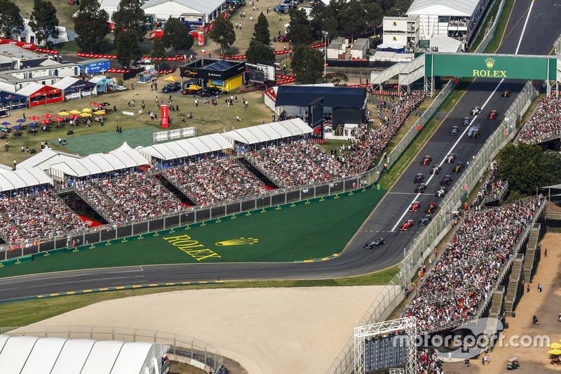 Cerca de 80.000 espectadores pueden ocupar las gradas del Albert Park