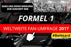 Weltweite Formel-1-Umfrage 2017
