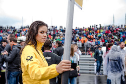 Grid girl de Jamie Green, Audi Sport Team Rosberg, Audi RS 5 DTM