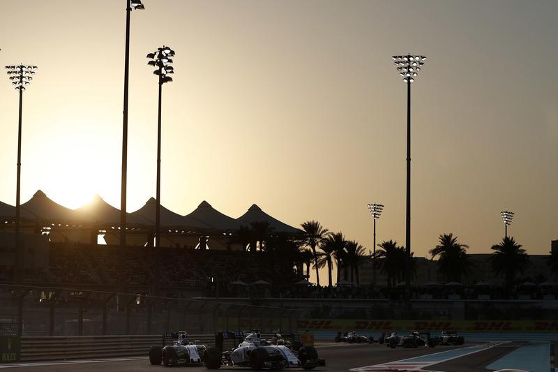 Felipe Massa, Williams FW38, y Valtteri Bottas, Williams FW38