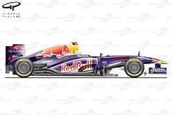 Red Bull RB7 side view
