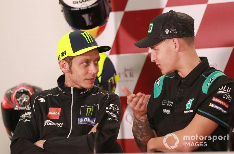 Valentino Rossi, Yamaha Factory Racing, Fabio Quartararo, Petronas Yamaha SRT