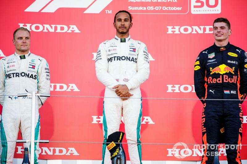 GP de Japón: 1º Hamilton, 2º Bottas, 3º Verstappen