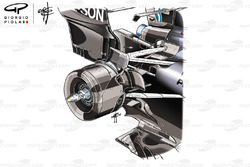 Mercedes AMG F1 W09 rear suspension front view