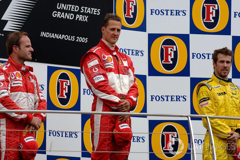 2005 : 1. Michael Schumacher, 2. Rubens Barrichello, 3. Tiago Monteiro