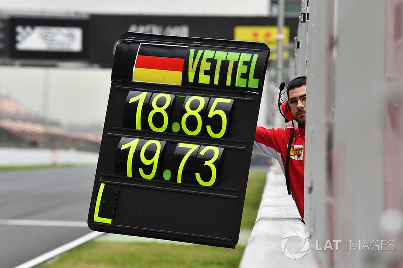 Пит-борд для Себастьяна Феттеля, Ferrari
