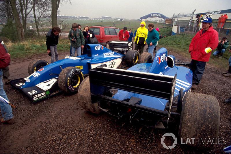 Les Ligier JS39 de Martin Brundle et Mark Blundell, qui ont respectivement abandonné aux tours 8 et 21