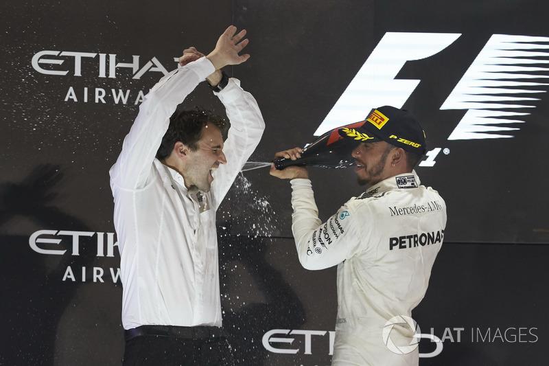 Podium: Lewis Hamilton, Mercedes AMG F1
