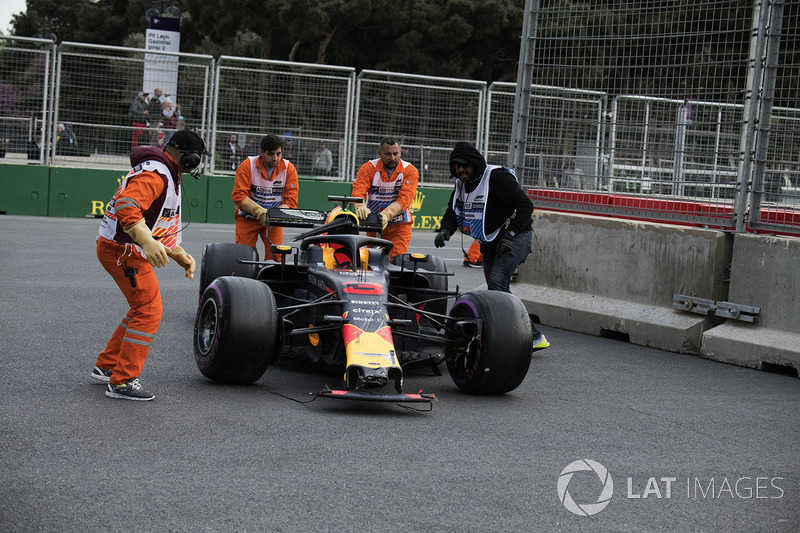 El auto de Daniel Ricciardo, Red Bull Racing RB14