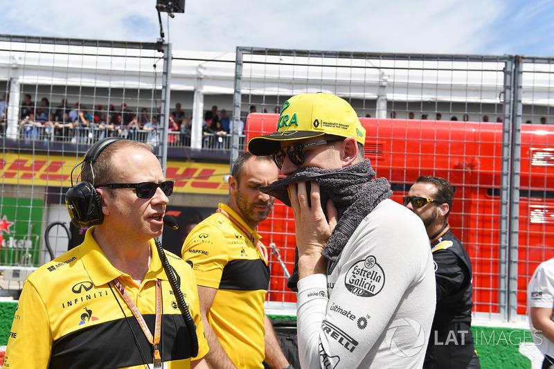 Nico Hulkenberg, Renault Sport F1 Team, in griglia