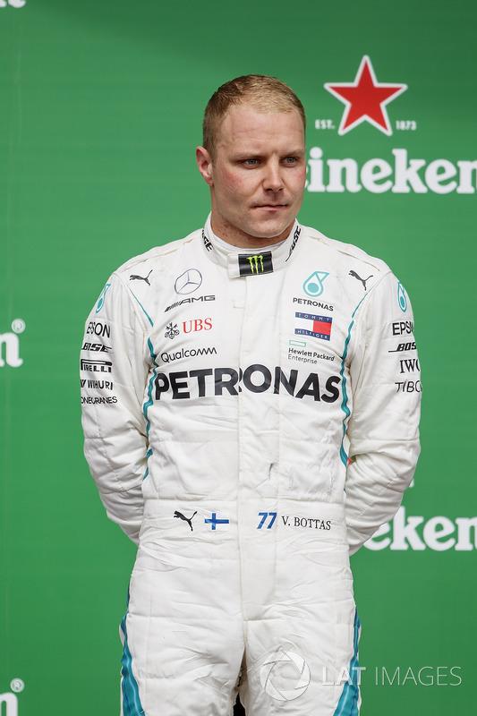 Valtteri Bottas, Mercedes AMG F1, 2nd position, on the podium
