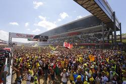 イタリアGP決勝レース後のメインストレート