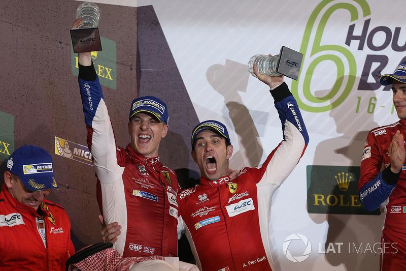 Podium LMGTE Pro: second place James Calado, Alessandro Pier Guidi, AF Corse