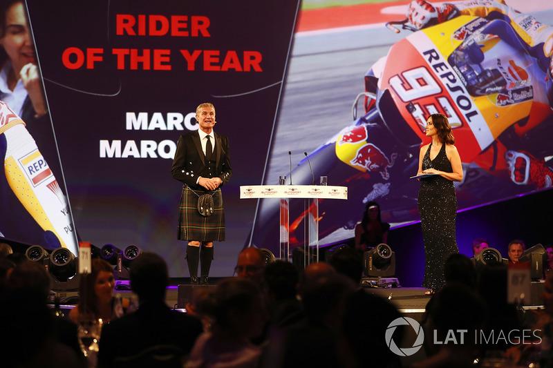 Marc Márquez ganó el premio a motociclista del año.