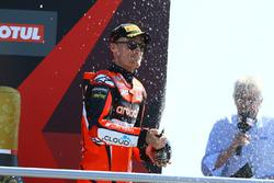 Podium: third place Chaz Davies, Aruba.it Racing-Ducati SBK Team