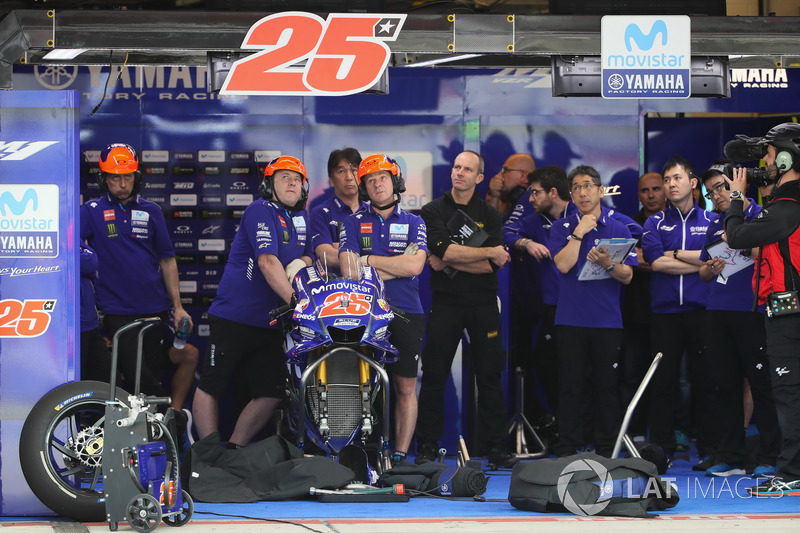 Garage de Maverick Viñales, Yamaha Factory Racing
