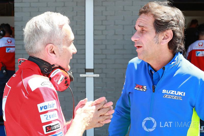 Davide Tardozzi, manager Ducati Team, Davide Brivio, manager Team Suzuki MotoGP